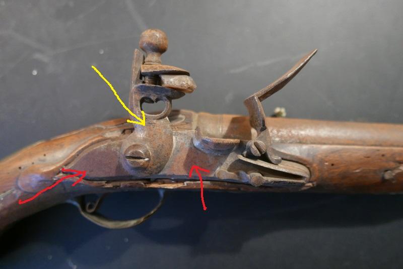 pistolet d'arçon fabrication première moitié XVIII... peut-être germanique... ou pas! L1030810