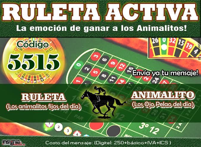 DATOS DE LA RULETA ACTIVA 19-06-2017 ***EL LIDER 5515*** Banner14