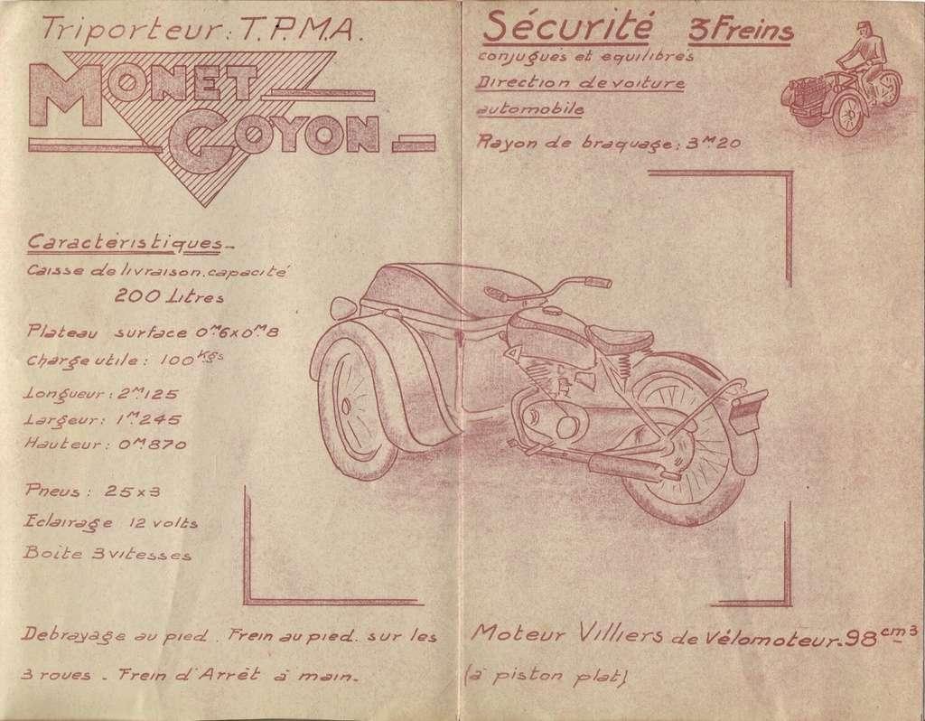 triporteur 100 cc Monet Goyon vu sur LBC Tpma-110