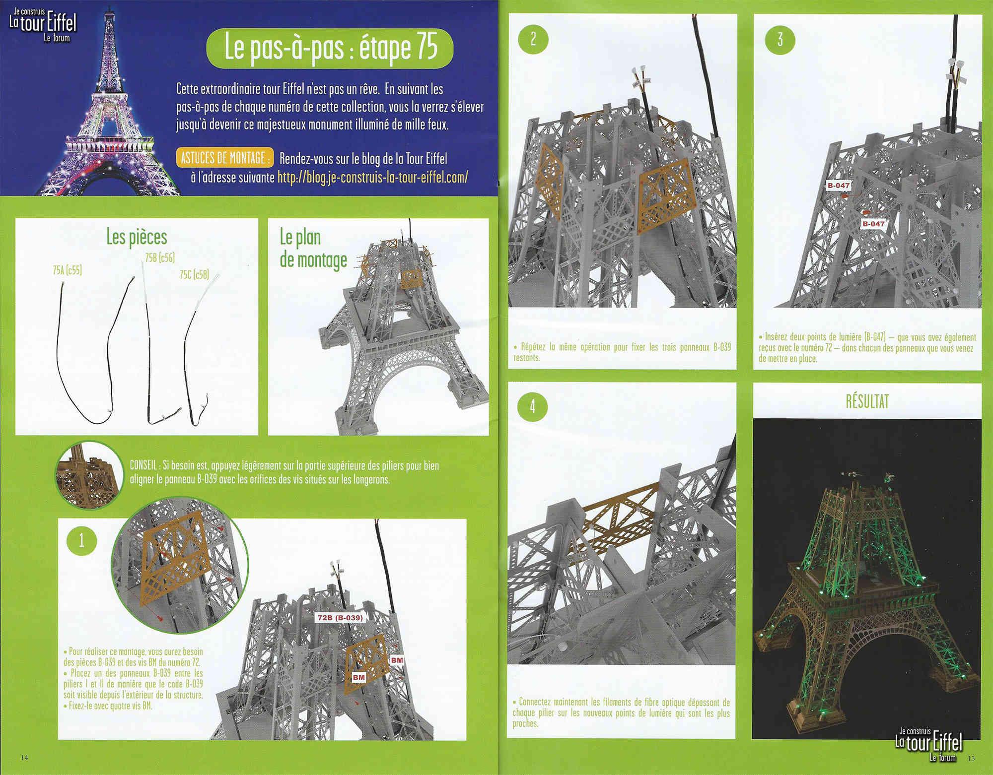 Numéro 75 - Je construis la Tour Eiffel - Le Corbusier 075-0210
