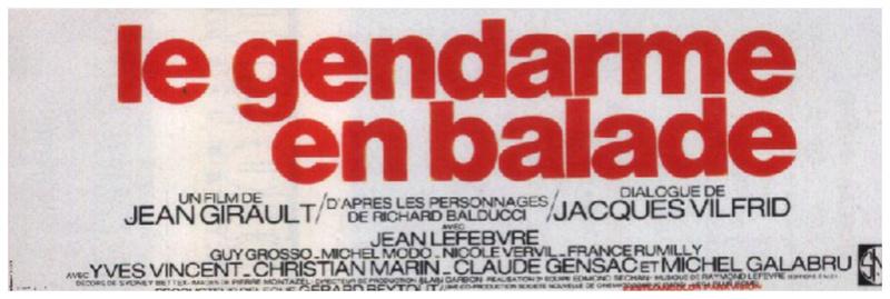 Saga: Comédie: LE GENDARME - Louis De Funes. [1964 à 1982] Mwbs6p11