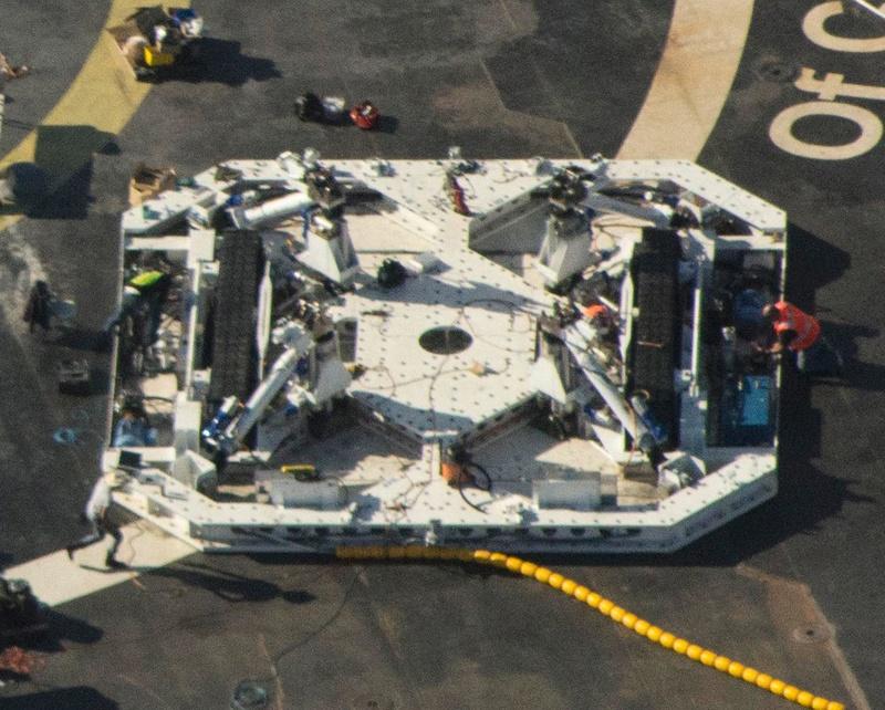 [SpaceX] Robotisation de la manipulation du premier étage une fois posé sur l'ASDS 152
