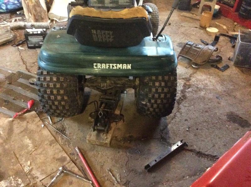 "Craftsman LT 1000 racer build ""The green bastard"" Img_3316"