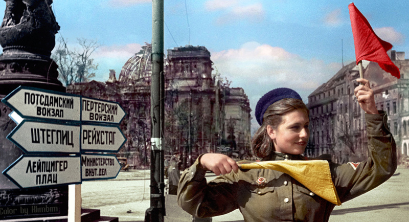 Soldate soviétique à Berlin , fin mai 1945 811