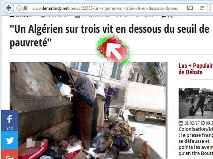 9 millions d'Algeriens vivent au pain nu ! تسعة مليون جزائري يكتفون بالخبز والماء Zz310