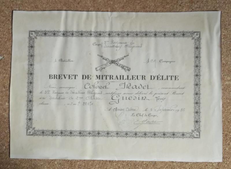 insigne brevet de tireur 00134