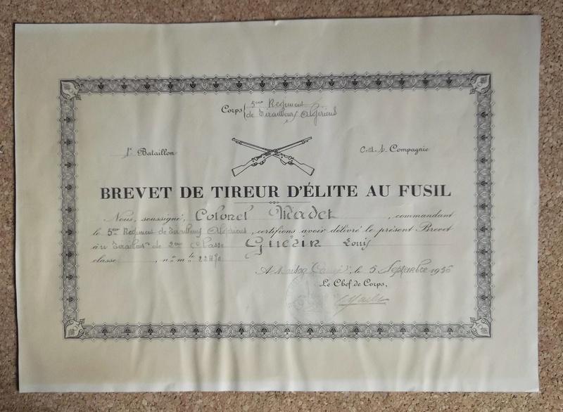 insigne brevet de tireur 00230
