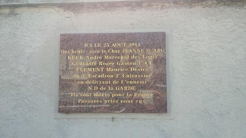 Stèle équipage char Jeanne d'Arc - MARSEILLE - CUIRASSIERS 20170510