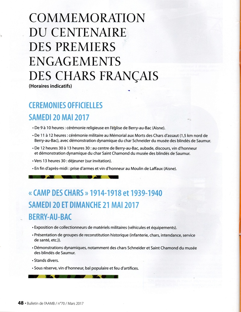 Commémoration nationale du Centenaire à Berry-au-Bac Moulin de LAFFAUX le 20 mai 2017 ( Horaires indicatifs) Img20810