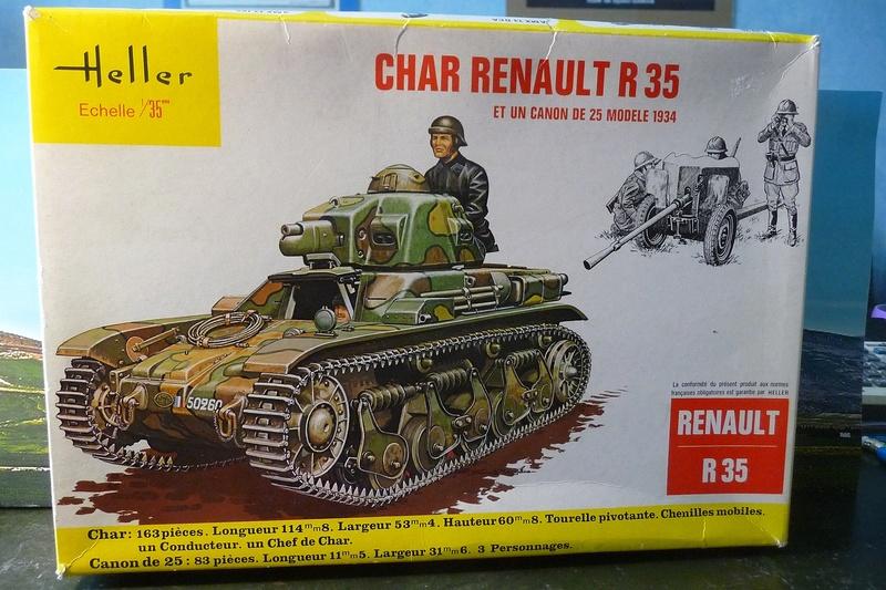 HELLER 1/35- CHAR RENAULT R 35 et CANON DE 25mm modèle 1934 P1070310