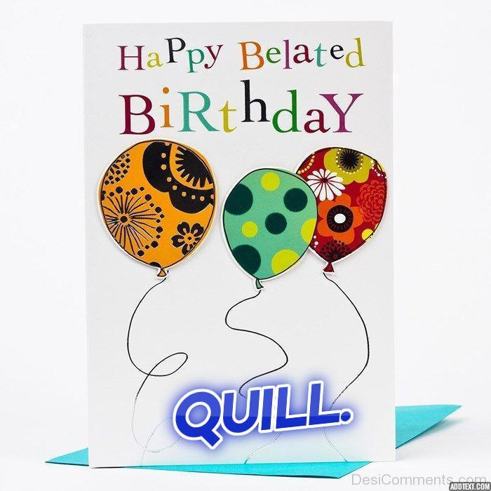 Happy belated birthday Quill!! Addtex10