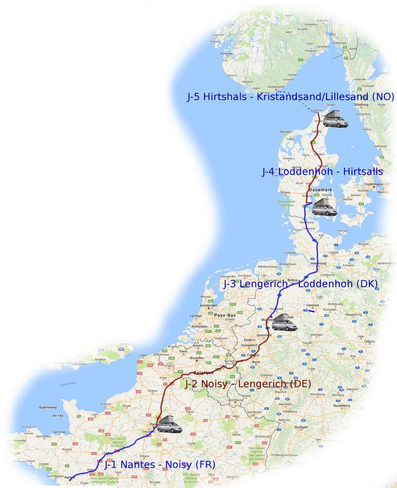 Norvège 2016 - retour en image sur notre première grande virée Trajet10