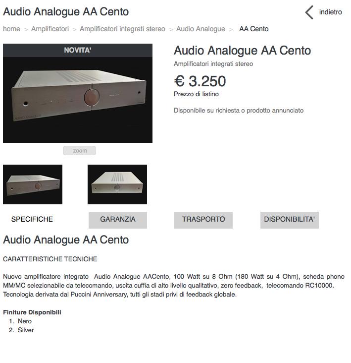 Nuovo integrato AudioAnalogue - Pagina 3 Scherm11