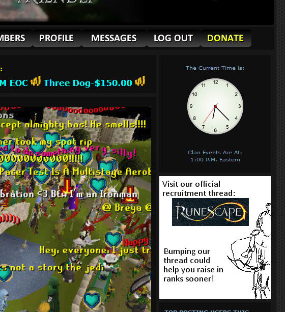 SUGGESTION - a tab/direction to our forum thread :) Concep11