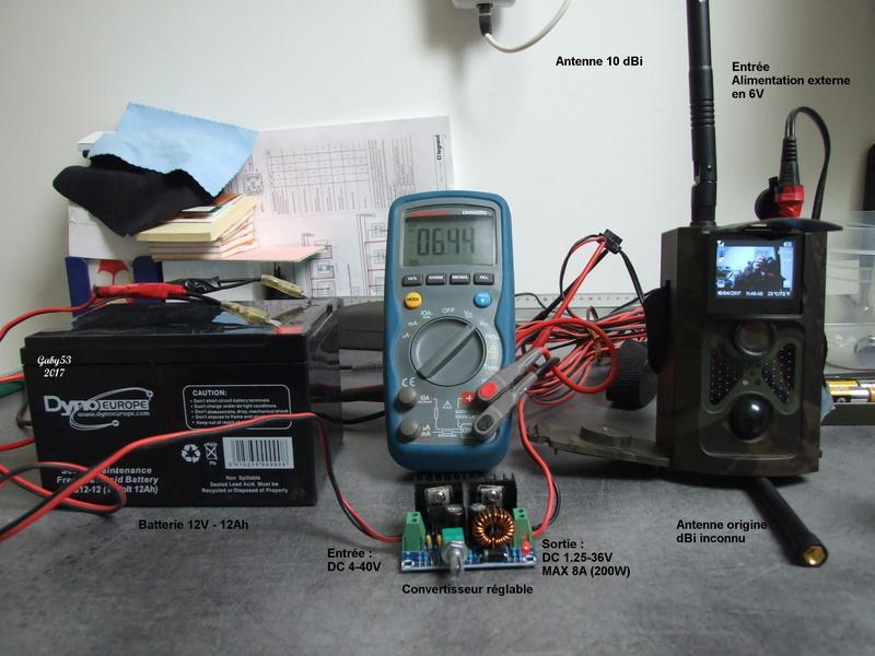 Alimentation externe pour Trail camera Montag10