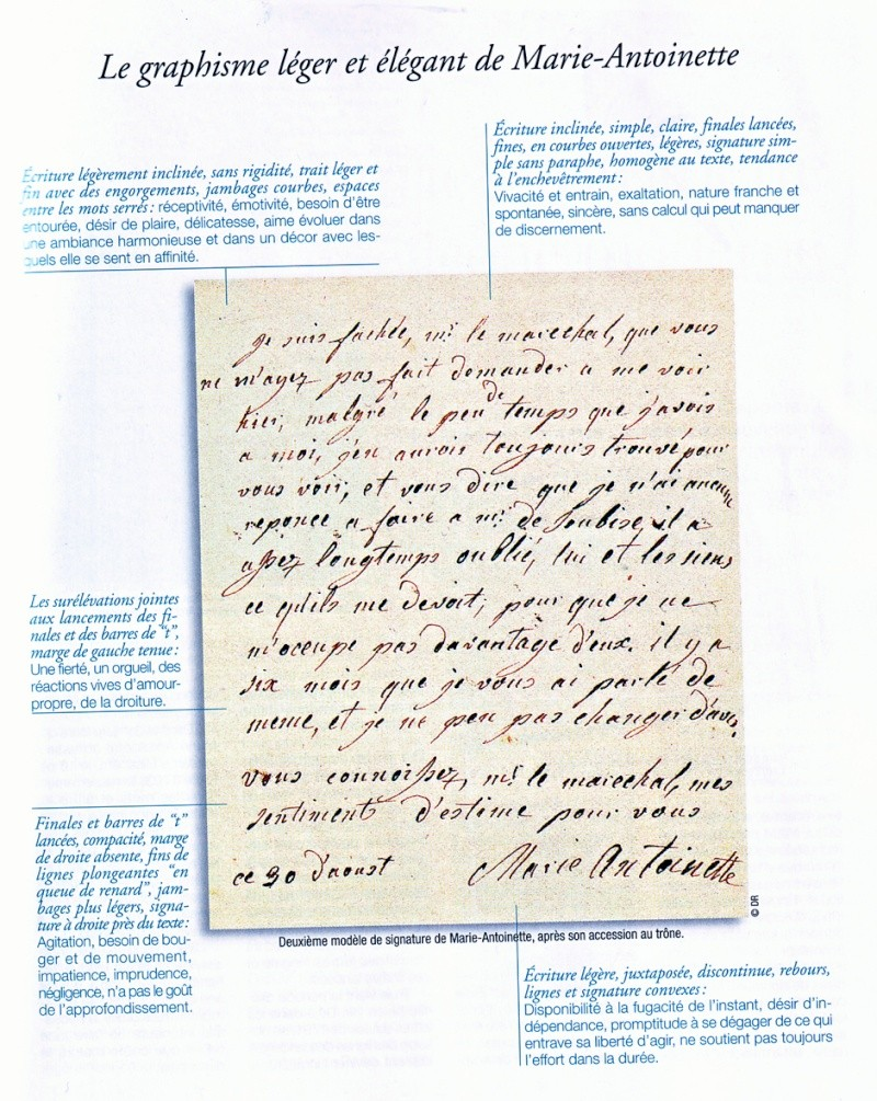 Autographe Marie Antoinette Ecritu10