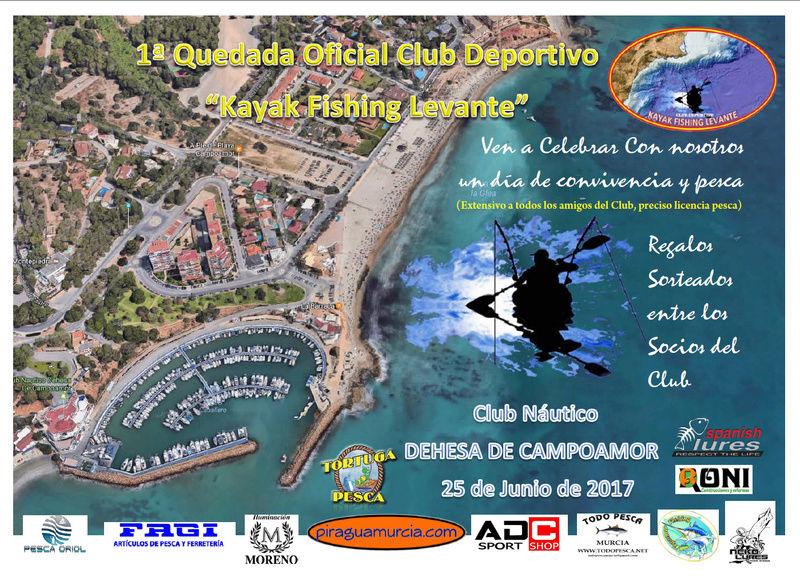 """1ª Quedada Oficial Club """"Kayak Fishing Levante Campoa11"""