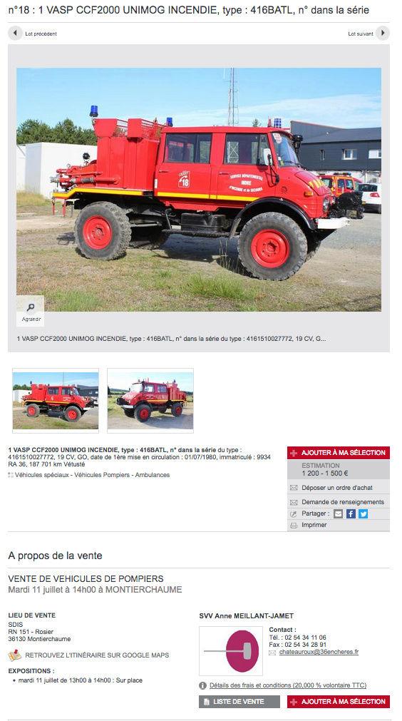 Vente 416 Doka pompier aux enchères à 36130 Montierchaume le 11/07/2017 Captur22