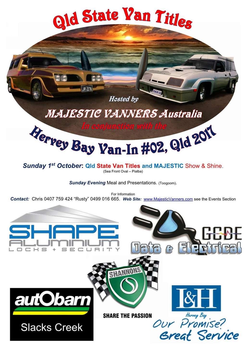 2017 Van-In #06 Albury/Wodonga; #02 Hervey Bay: 29th September to 2nd October. 2017_d12