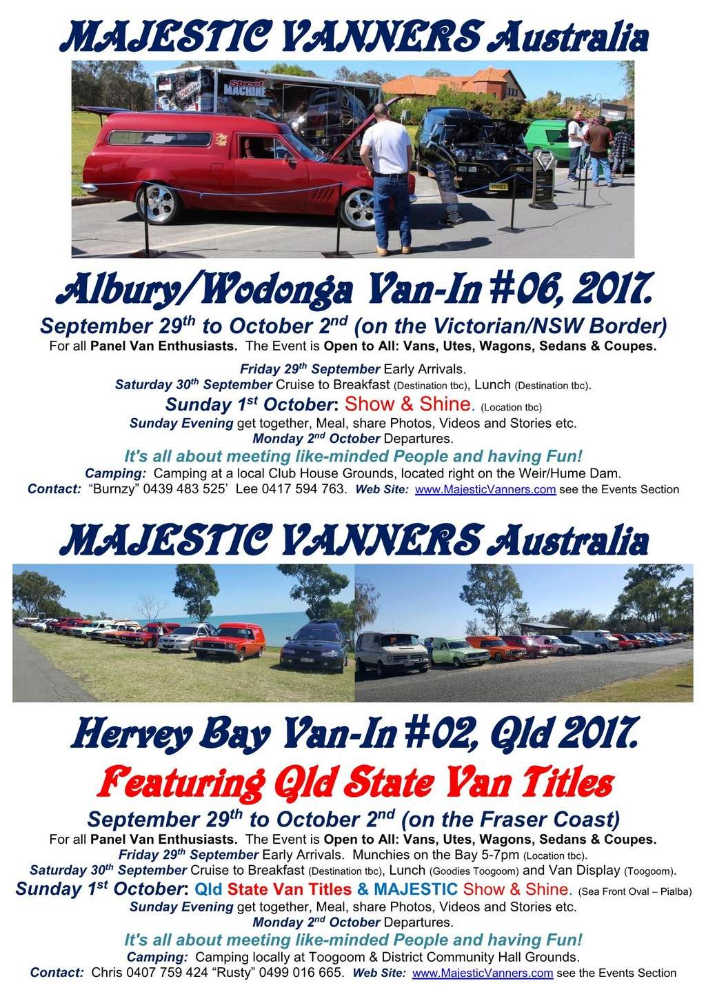 2017 Van-In #06 Albury/Wodonga; #02 Hervey Bay: 29th September to 2nd October. 2017_f14