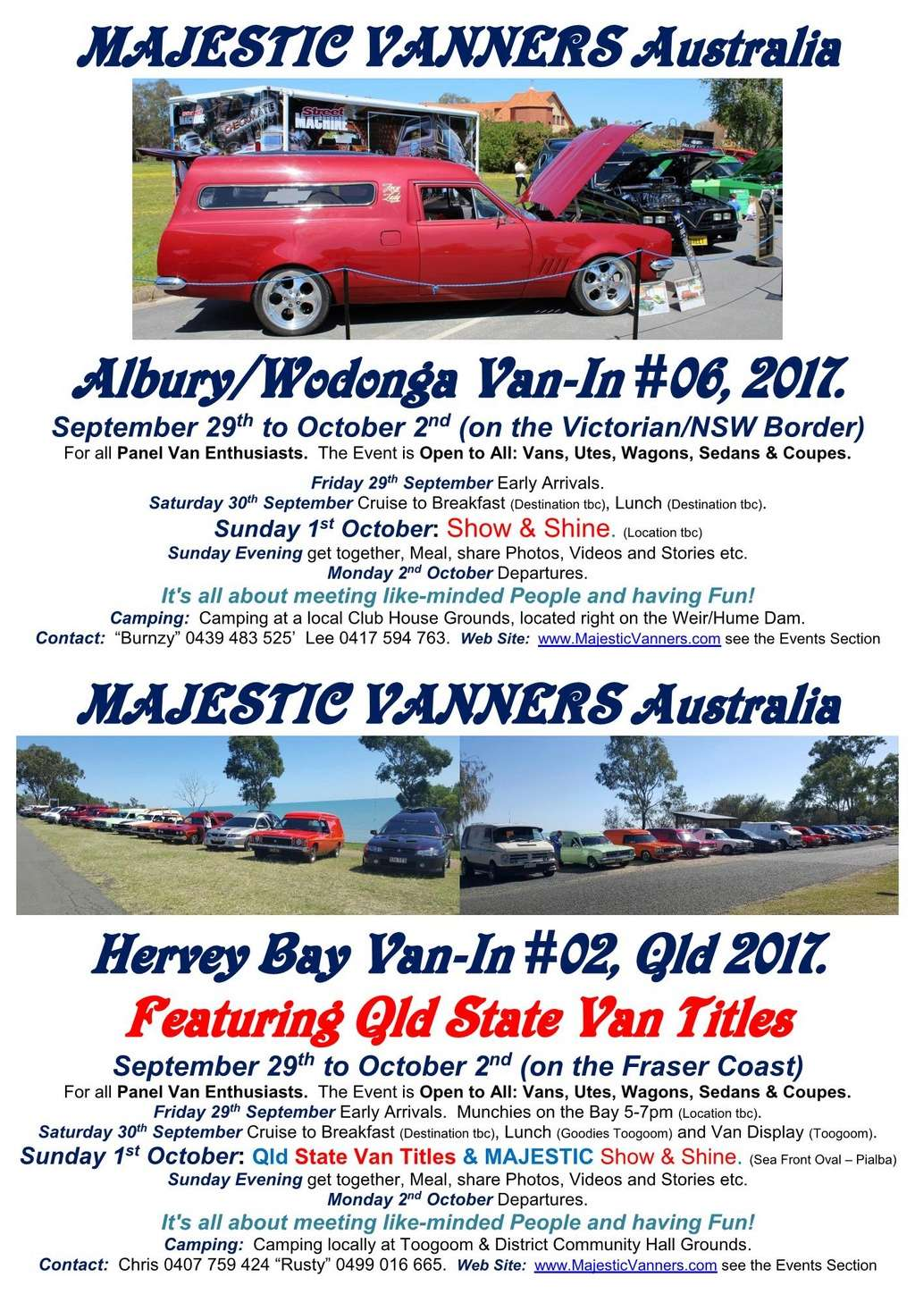 2017 Van-In #06 Albury/Wodonga; #02 Hervey Bay: 29th September to 2nd October. 2017_f15