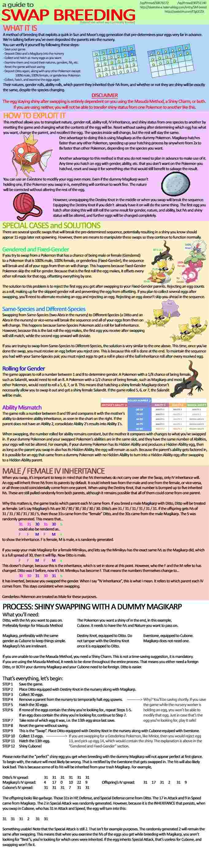 Swap breeding ou la méthode Masuda optimisé [7ème génération] Shinyb11