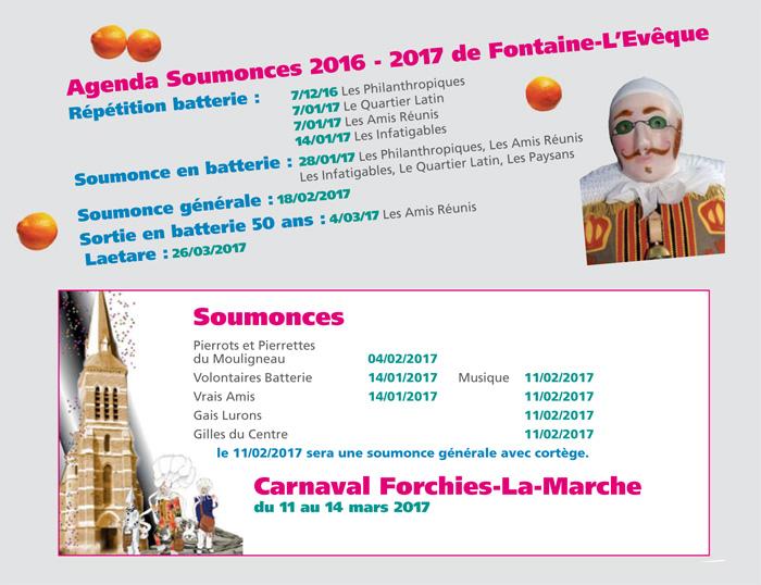 CARNAVAL - DIMANCHE 26 MARS CARNAVAL FONTAINE L'EVÊQUE 2017  Agenda11