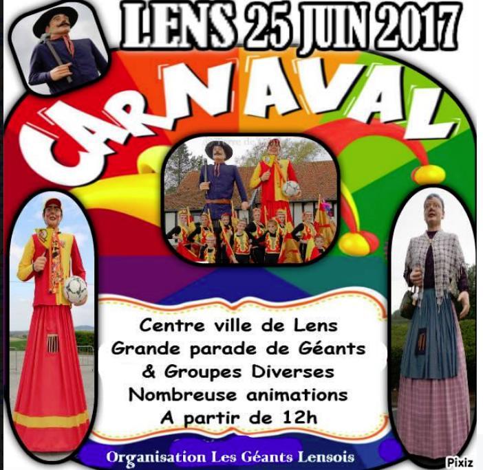 2017 - FRANCE : CARNAVAL DE LENS 2017 LE 25 JUIN 2017  Carnav45
