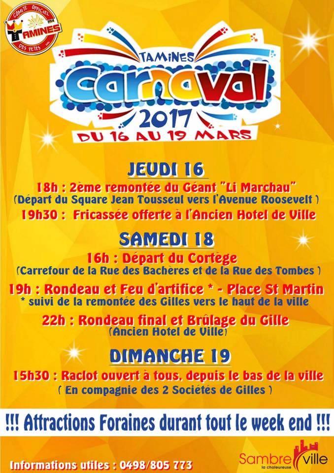 mars - CARNAVAL DE SAMBREVILLE TAMINES DU 16 AU 19 MARS 2017  Tamine10