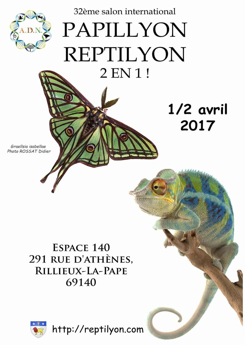 PapilLyon / ReptiLyon le week end  du 01/02 avril ! Facebo10
