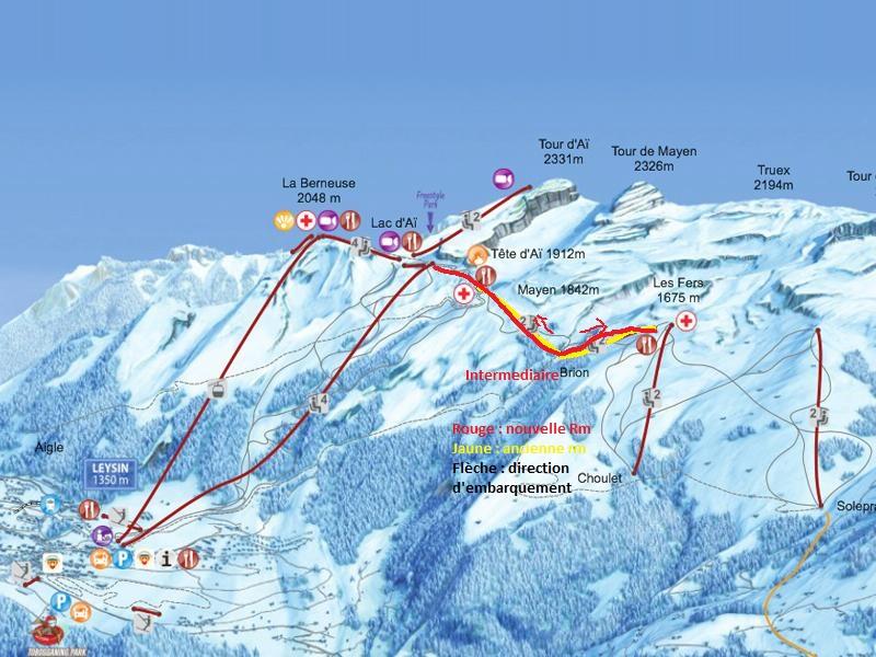 Construction du télésiège débrayable 4 places Le Fer-Brion-Tête d'Ai à Leysin VD Suisse (TSD4) 800x6011