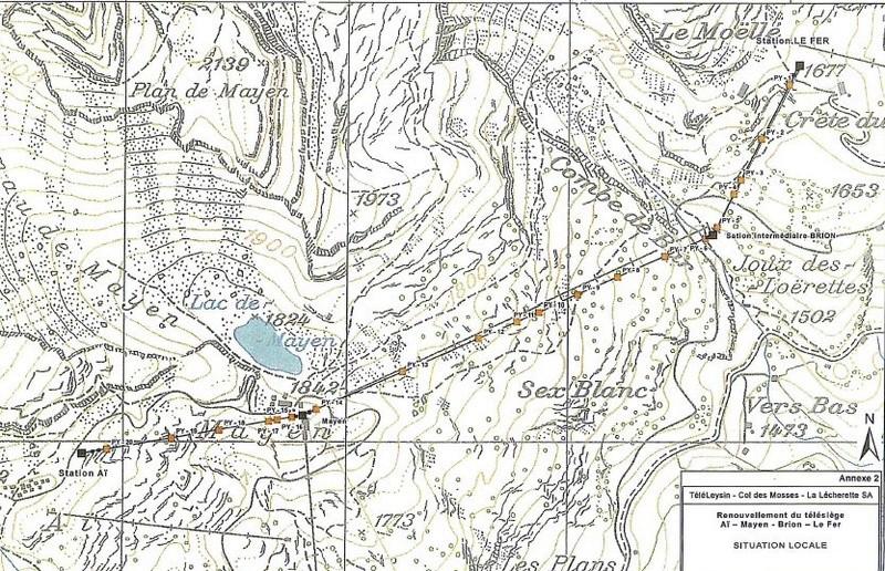 Construction du télésiège débrayable 4 places Le Fer-Brion-Tête d'Ai à Leysin VD Suisse (TSD4) Captur12