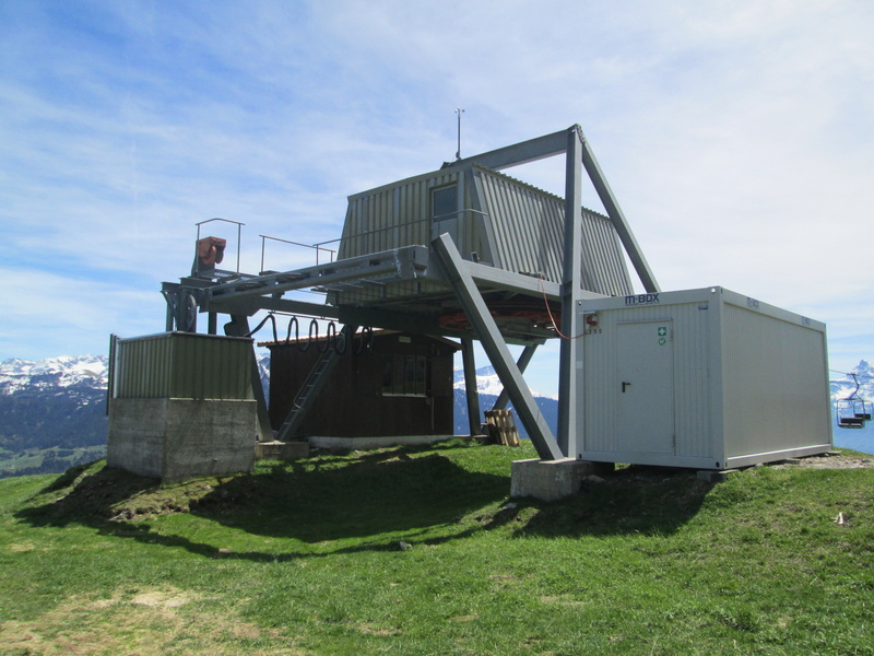 Construction du télésiège débrayable 4 places Le Fer-Brion-Tête d'Ai à Leysin VD Suisse (TSD4) Img_1947