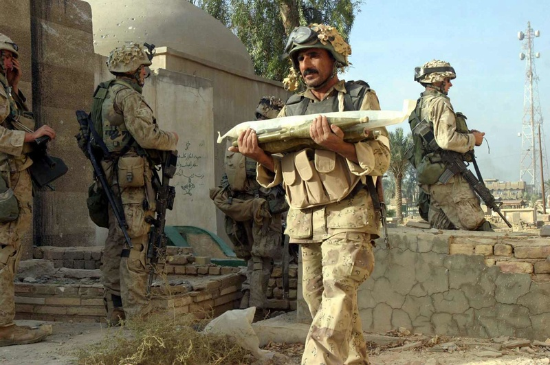 Post-Invasion Black Iraqi Body Armor Vest -0411110