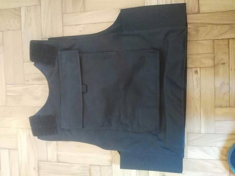 Post-Invasion Black Iraqi Body Armor Vest Fy1fax10