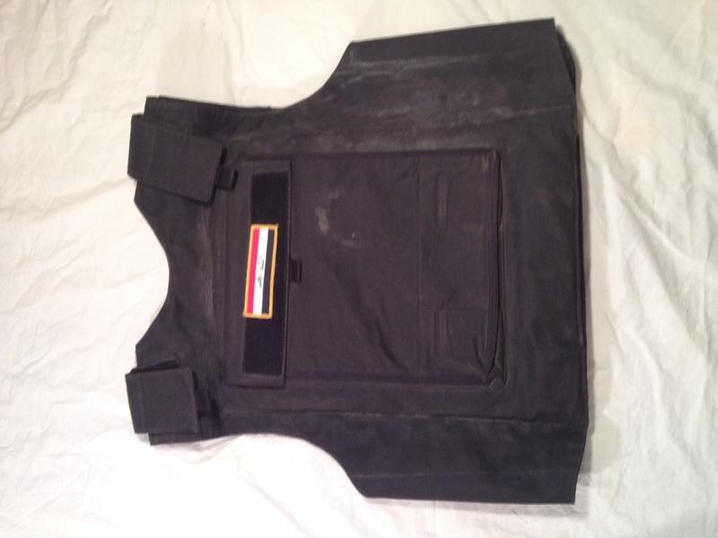 Post-Invasion Black Iraqi Body Armor Vest Img_2642