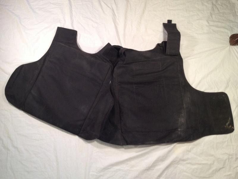 Post-Invasion Black Iraqi Body Armor Vest Img_2643