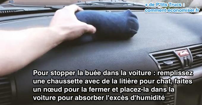 Stopper la buée dans une voiture Placer10