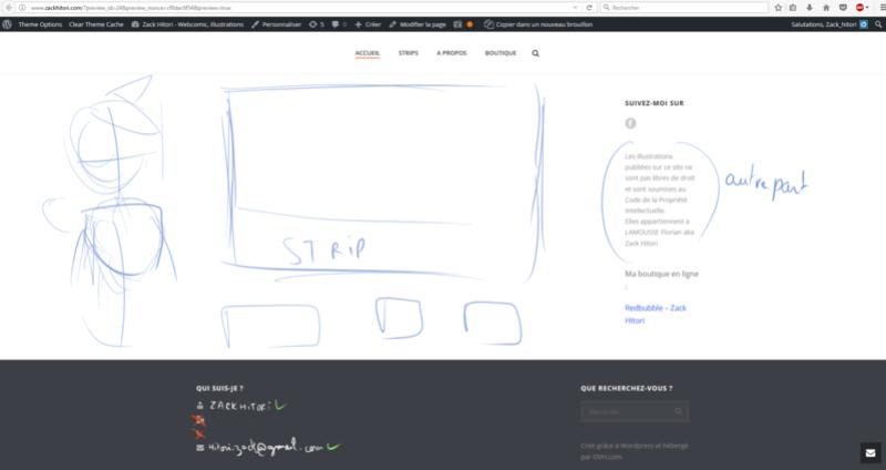 Mon Nouveau site Internet pour le webcomic 311