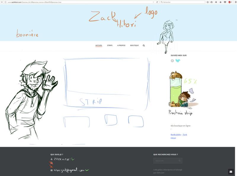 Mon Nouveau site Internet pour le webcomic Croqui10