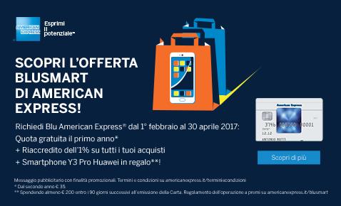 CARTA AMERICAN EXPRESS regala SMARTPHONE HUAWEI Y3 PRO [scaduta il 30/04/2017] Aaa11