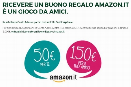 CONTO ADESSO regala BUONO AMAZON € 150 al presentato e € 50 al presentatore [scaduta il 31/05/2017] Cattur21