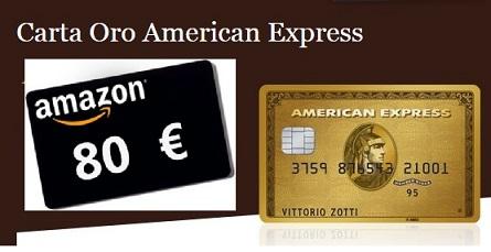 CARTA ORO AMERICAN EXPRESS regala BUONO AMAZON € 80 [scaduta il 25/01/2018] Cattur23