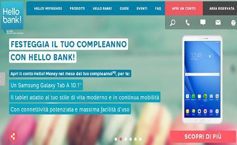 """HELLO BANK regala SAMSUNG GALAXY TAB A 10.1"""" nel mese del compleanno [scaduta il 31/05/2018] Immagi19"""