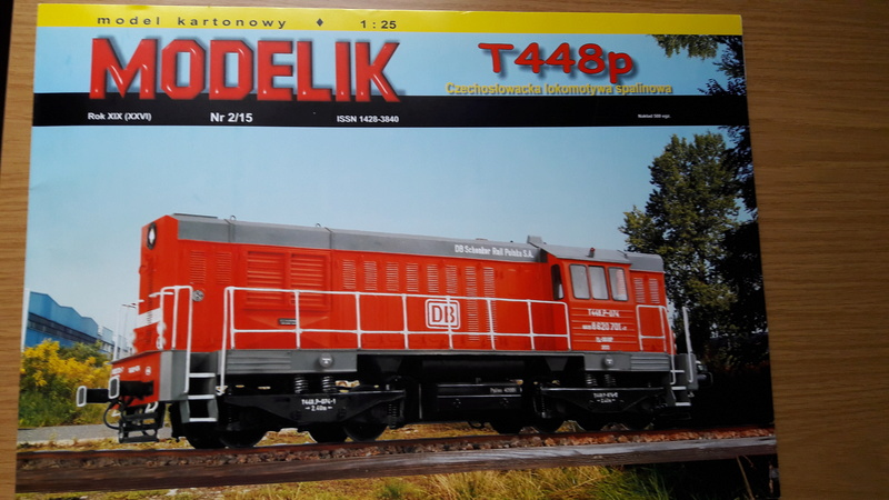 Fertig - Czechische Diesellok T448p gebaut von Holzkopf 20170257