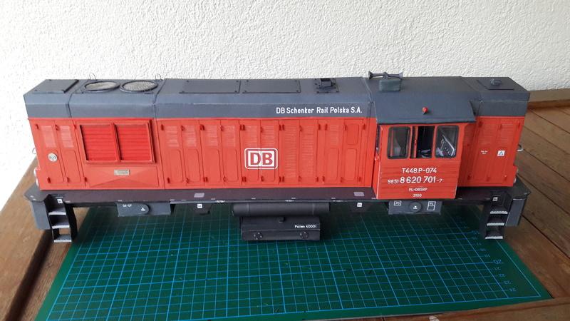 Fertig - Czechische Diesellok T448p gebaut von Holzkopf 20170333