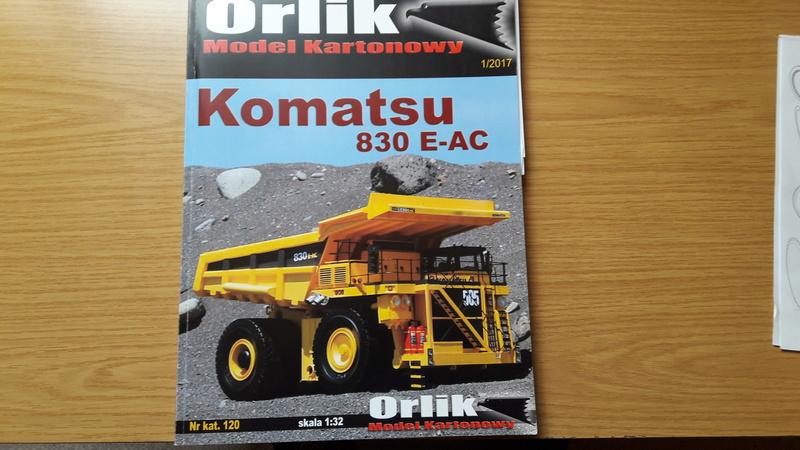 Fertig - Tagebau-Truck Kamatsu 830 E-AC gebaut von Holzkopf 20170387