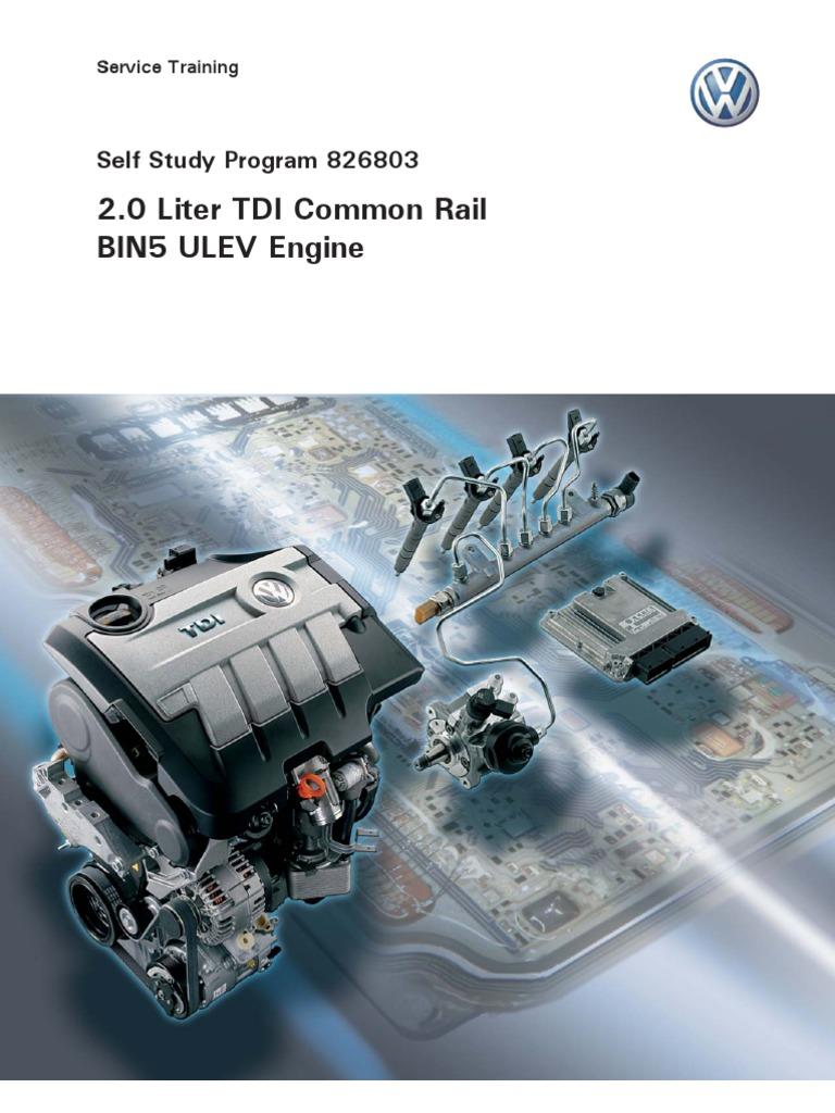 2.0 Liter TDI Common Rail BIN5 ULEV Engine -- Service Training 14878010