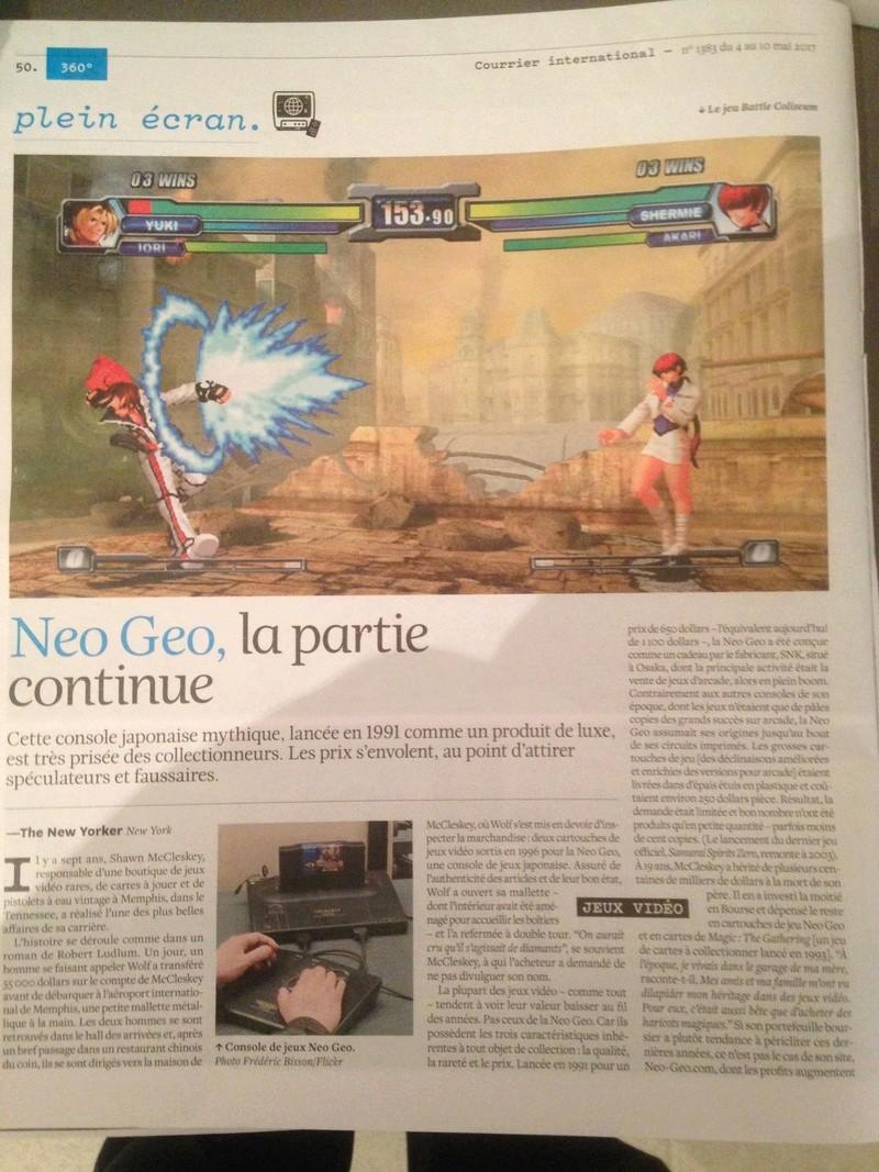article de presse Neo Geo courrier international Img_0212