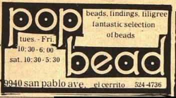 Good Times, Berkeley Barb, The Rag, etc... Bead10